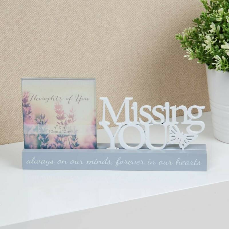 Herdenking fotohouder - Missing You