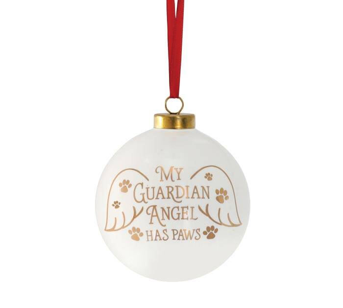 Kerstbal - 'My Guardian Angel Has Paws'