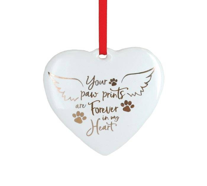 Kersthanger - 'Your Paw Prints are Forever in my Heart'