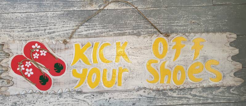 Kick off your shoes bord