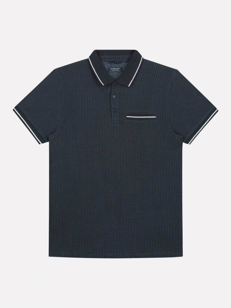 POLO S/S V-DOT JAQUARD