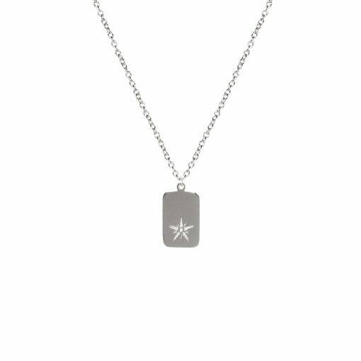 CHARM STAR KETTING STAAL LANG
