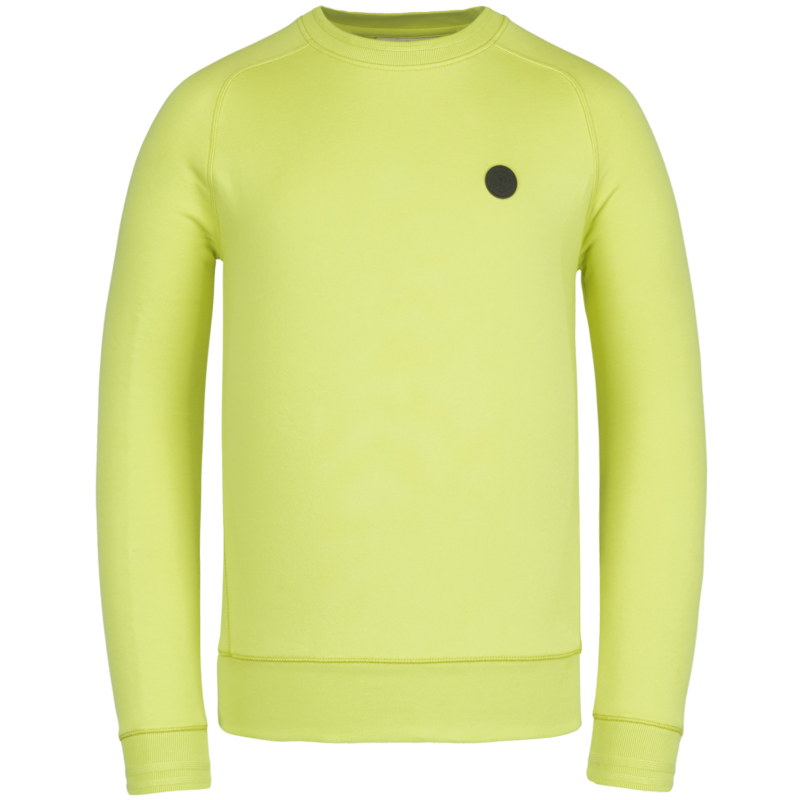 R-NECK TERRY SWEAT LIME GREEN