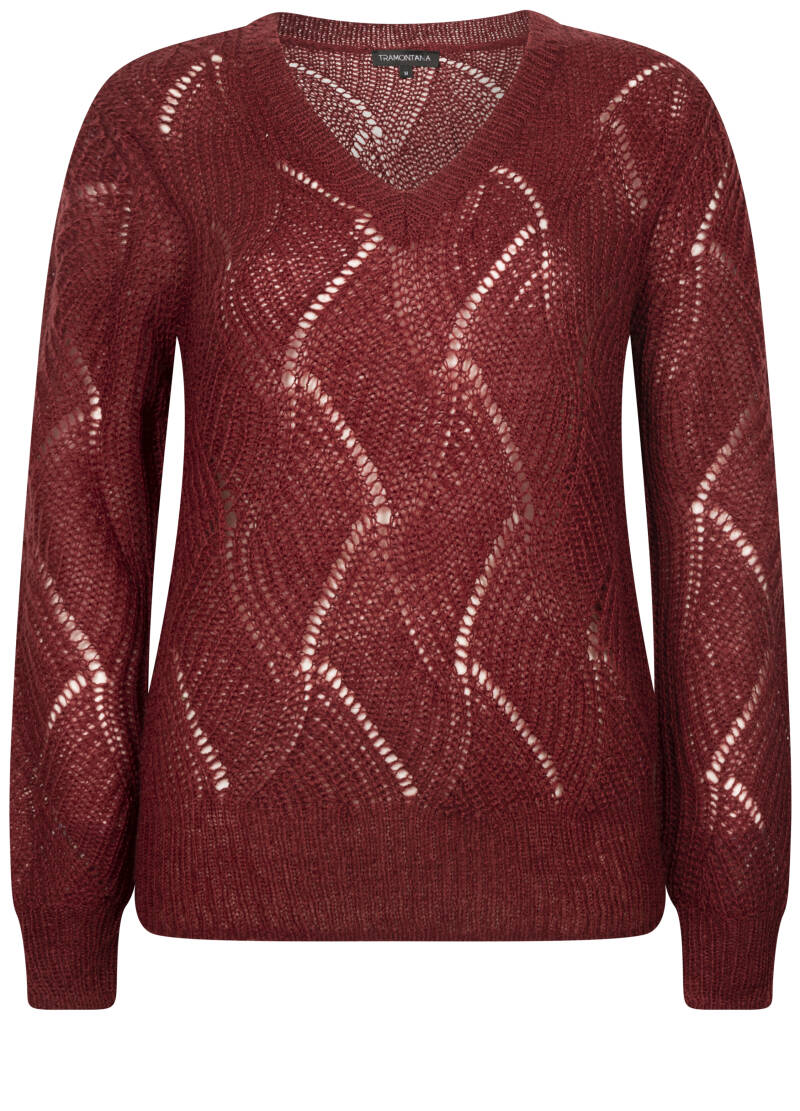 JUMPER MOHAIR WINE RED