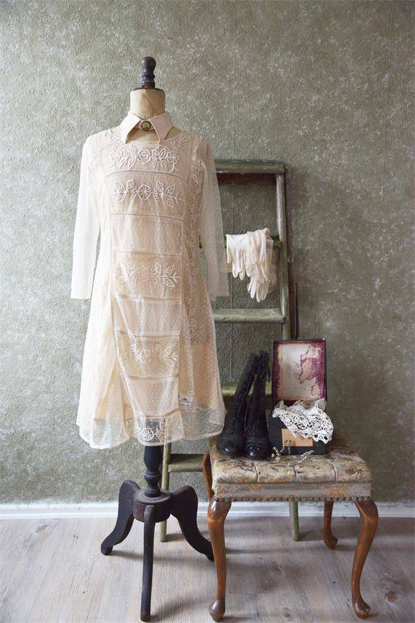 Dress - Faded Brocante - Tea Color XL