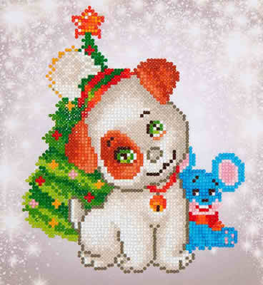 Diamond Dotz - Christmas Pup & Mouse  ~  nw-dd03-012