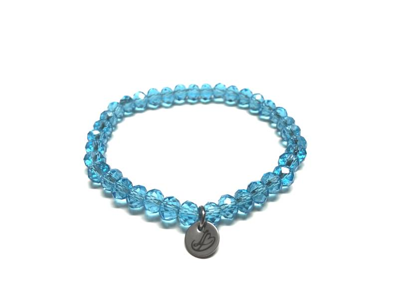 Little-Bitch Signature shine armband licht blauw