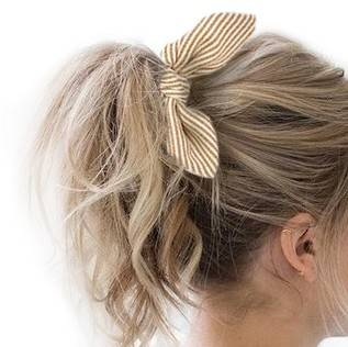 Little-Bitch scrunchie met korte strik/oortjes