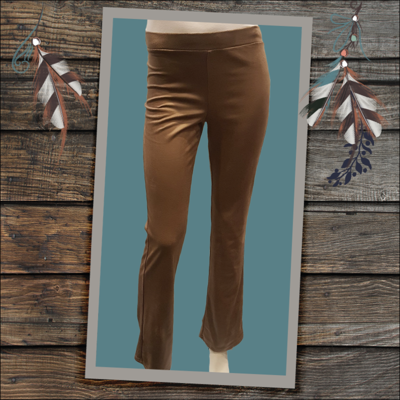 CdlC flared legging leatherlook taupe