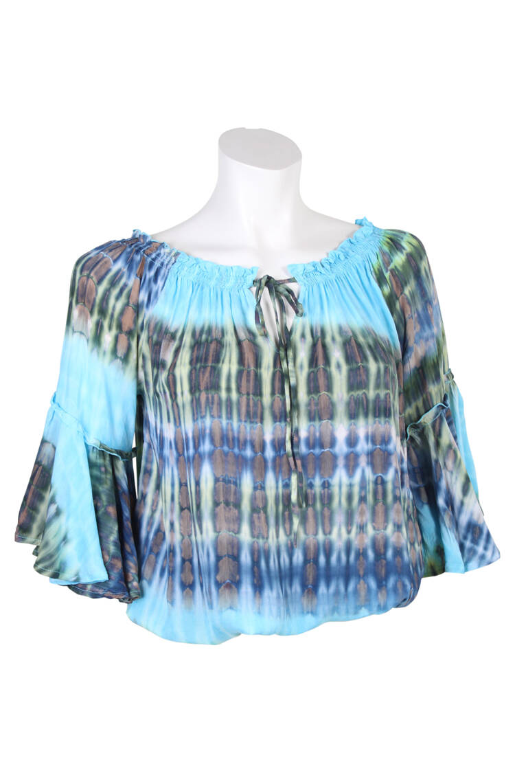Bindi top Teresa Tie & Dye Peach Blue