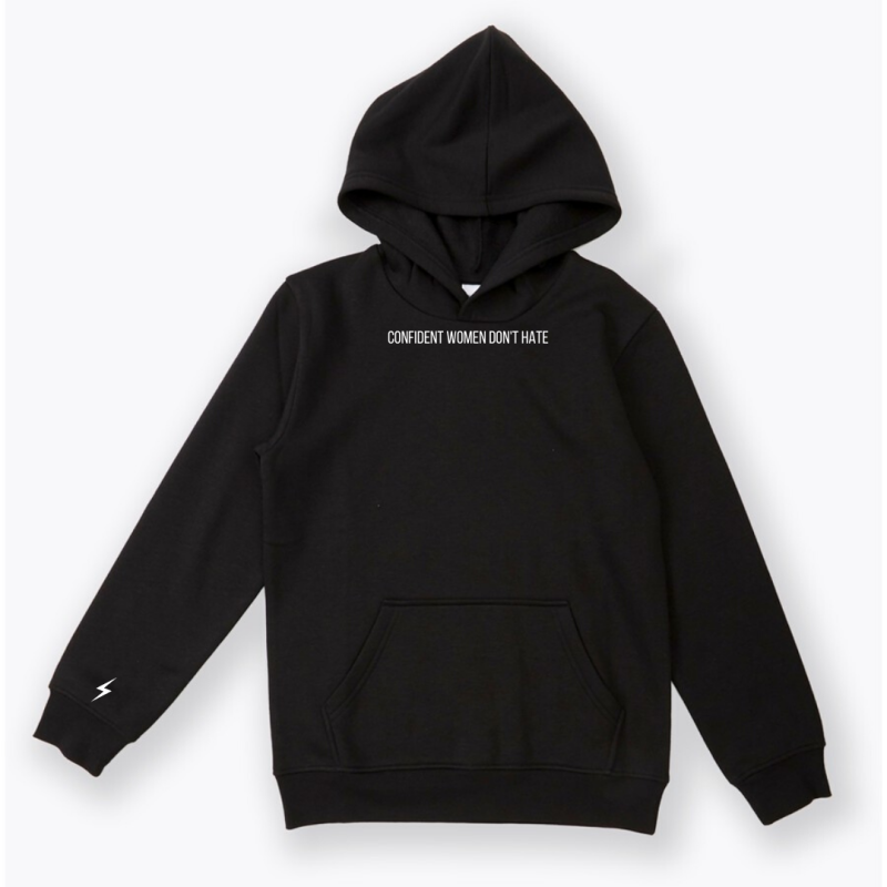 confident women don't hate hoodie