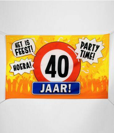 gevelvlag - 40 jaar ! party time !