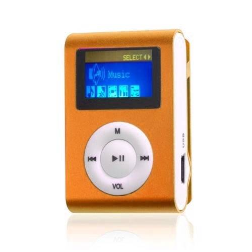 Mini Clip MP3 speler Display Oranje
