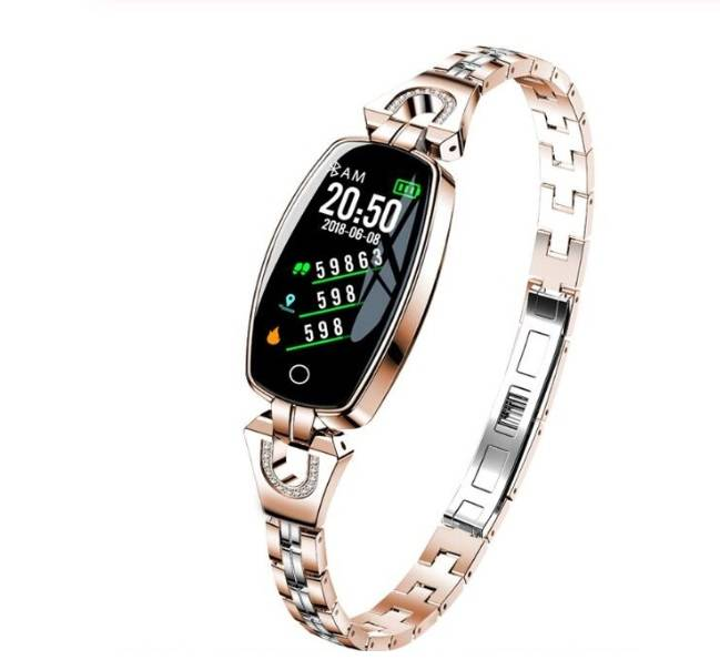 Hewec H8 vrouwen armband activity tracker goud
