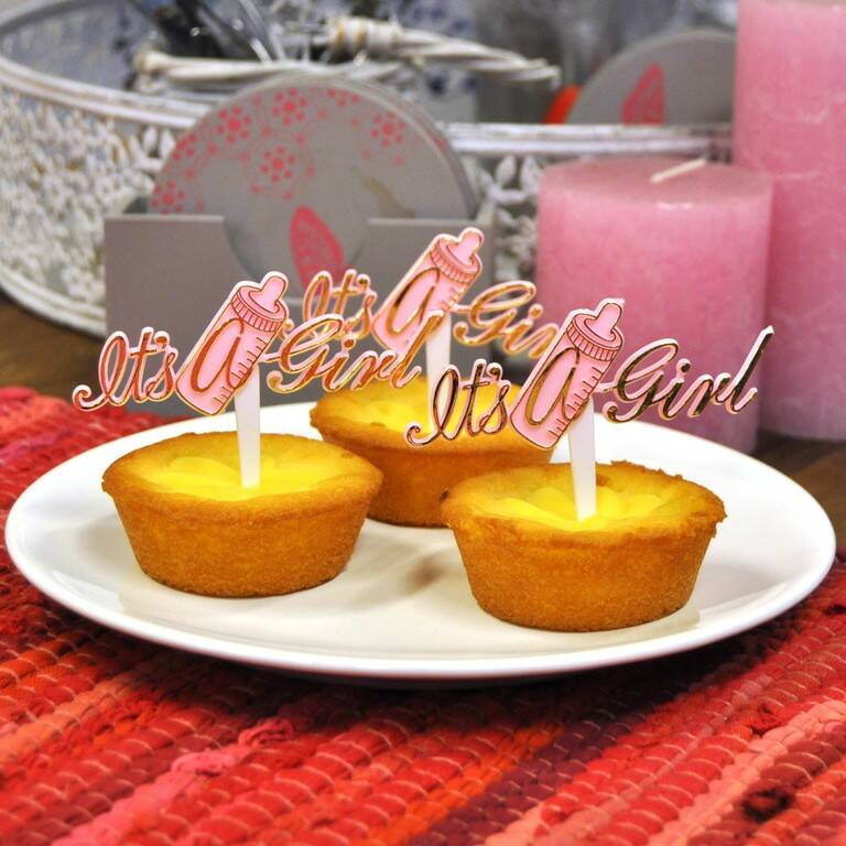 "Cupcake prikker drinkfles ""It's a girl"""