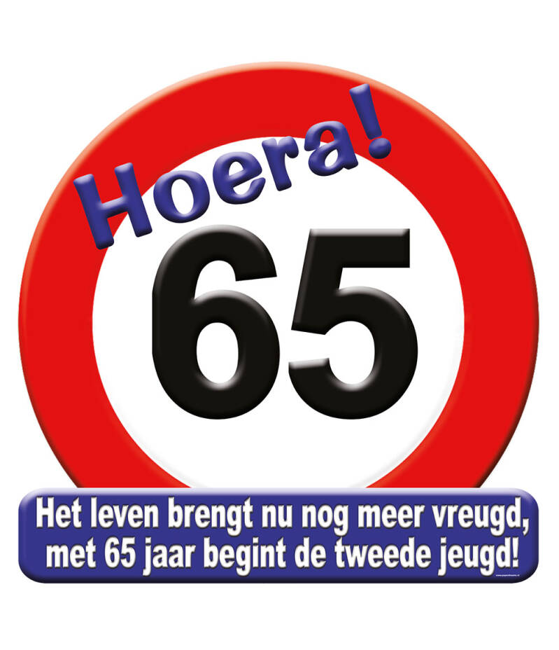 Huldeschild Hoera! 65
