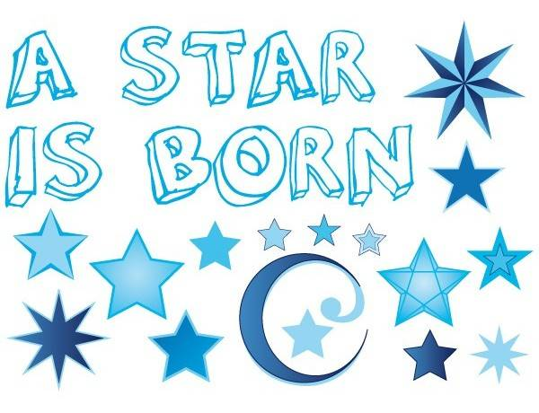 Raamsticker A star is born jongen