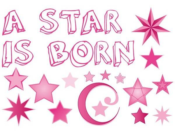 Raamsticker A star is born meisje