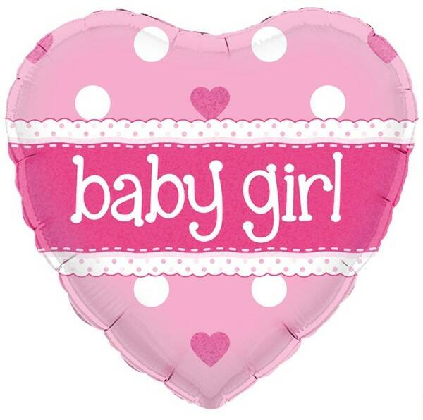 Folieballon hartje Baby Girl