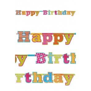 Letterslinger Glitter Happy Birthday