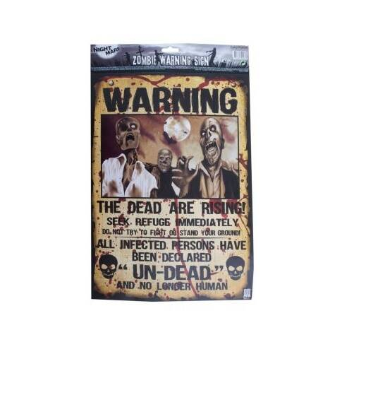 Poster Warning The dead are rising