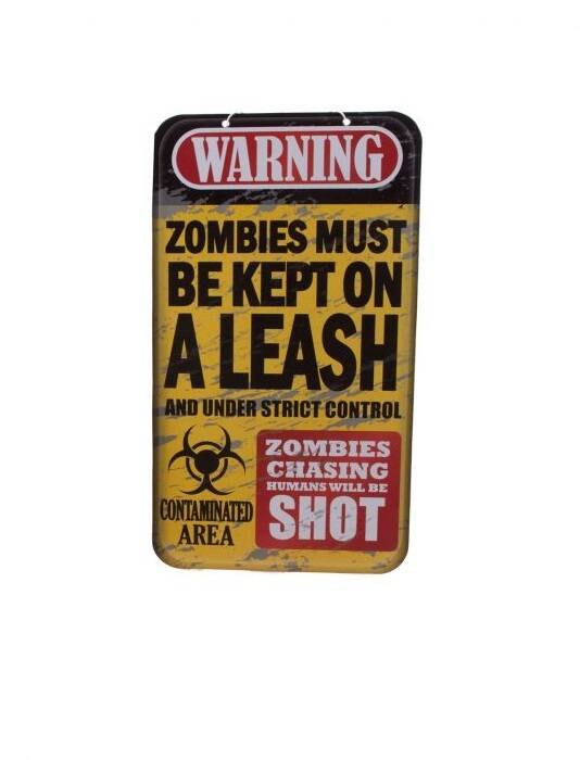 Wanddecoratie Zombies must be kept on a leash