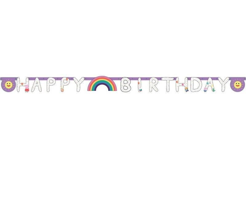 "Peppa Pig Letterslinger ""Happy Birthday""  170 cm"