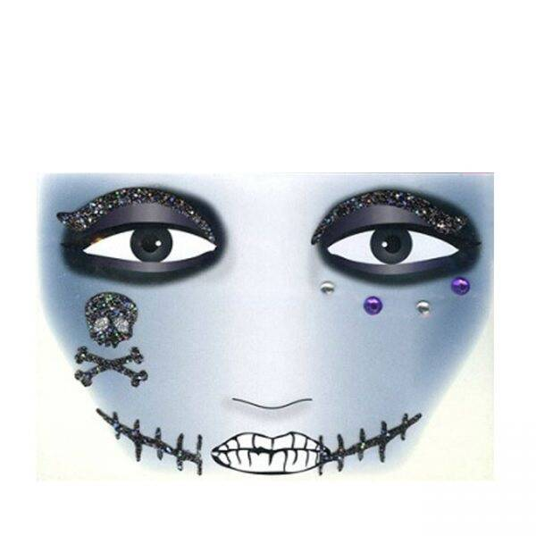 Gezicht sticker Halloween Black Scar