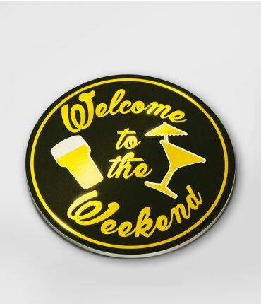 Onderzetters glossy Welcome to the weekend