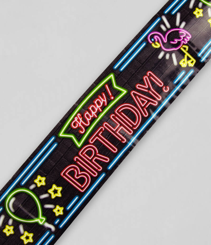 Neon Afzetlint Happy Birthday