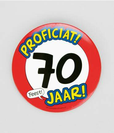XL Button 70 jaar