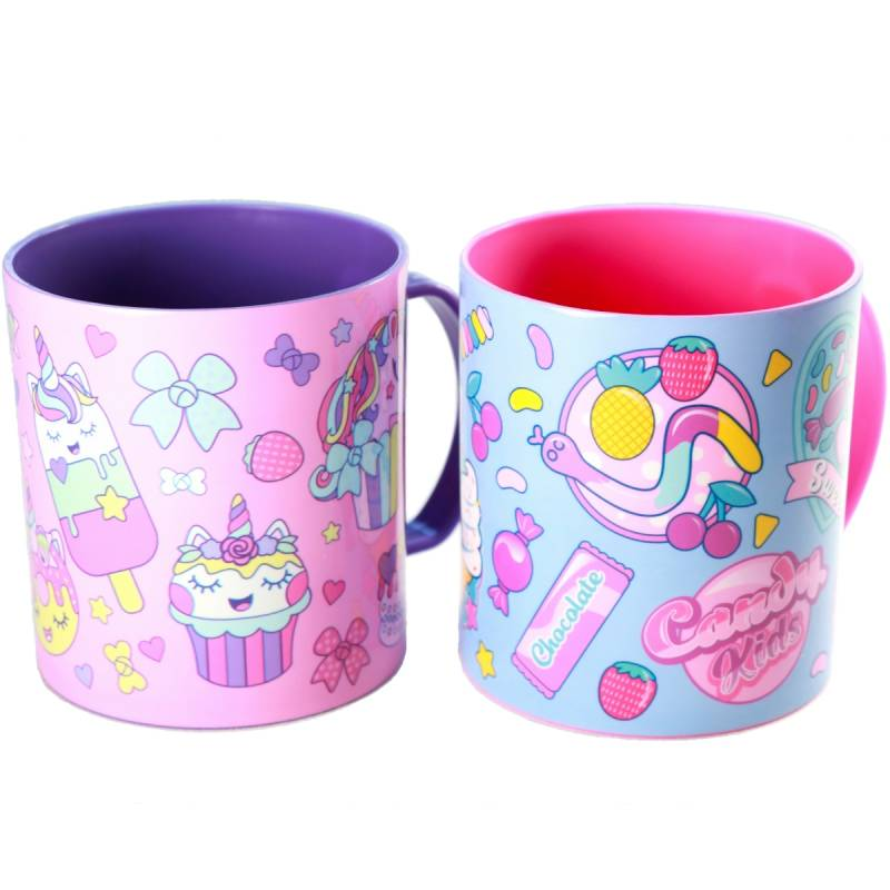 2x drinkbeker Cupcake Unicorn & Candy
