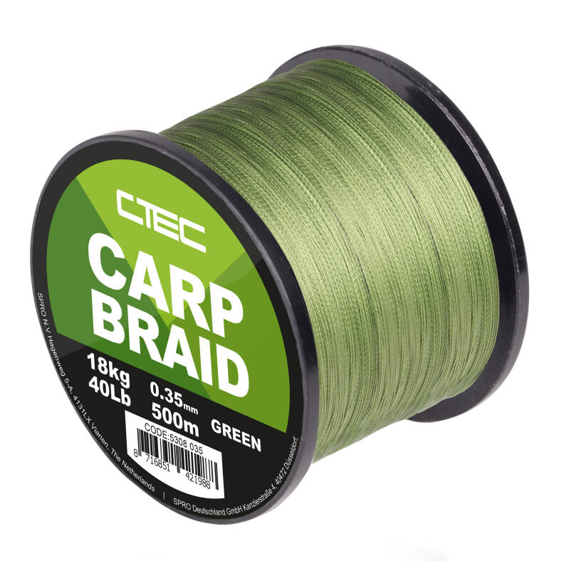 C-TEC CARP BRAID GREEN 500M