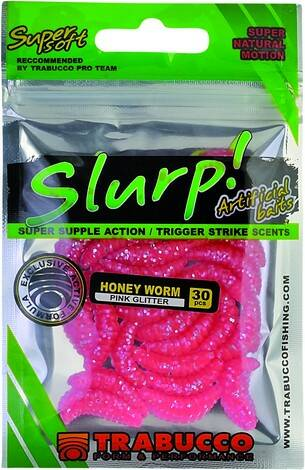 SLURP HONEY WORM PINK GLITTER