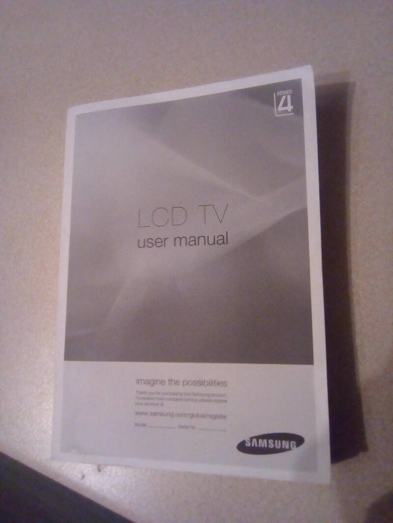 Samsung - LCD TV user manual  series 4