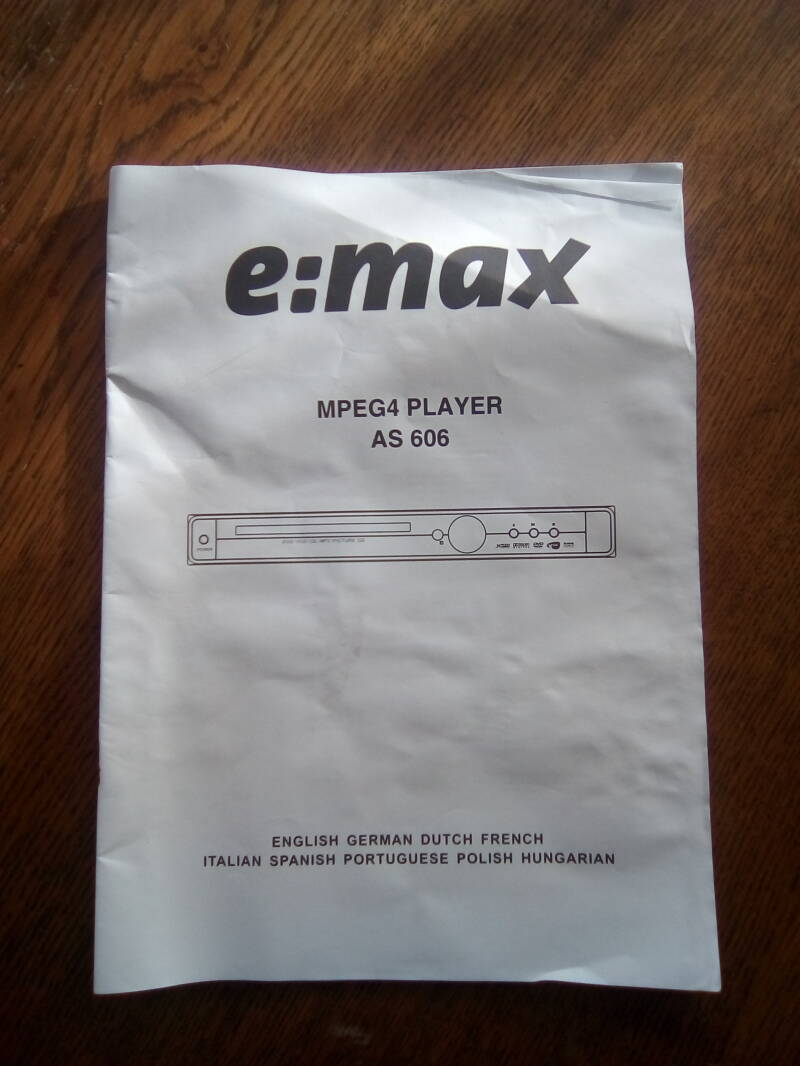 E:MAX MPEG4 Player AS 606
