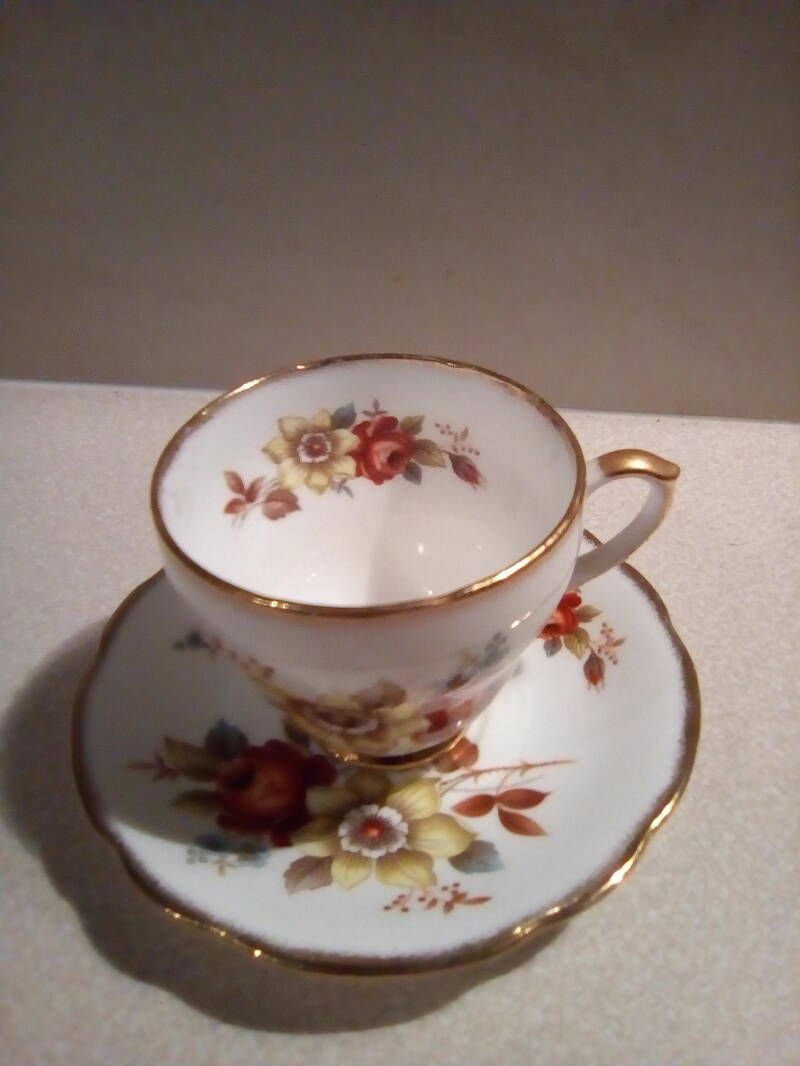 Kop en schotel Duchess bone china England