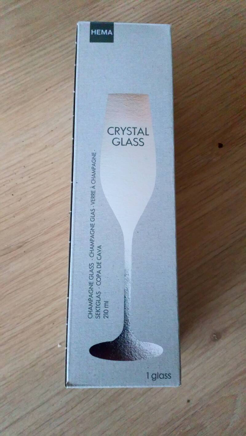 Champagne glas Hema / Crystal Glass 210ml (NIEUW)
