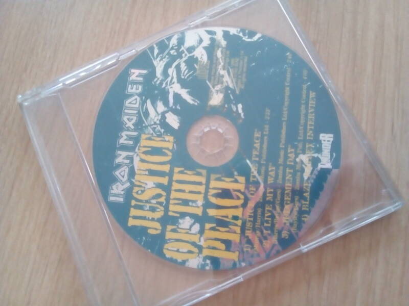 Iron Maiden Justice of the peace cd promo