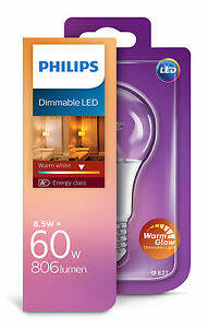 Philips dimmable led warm white 60w 806 lumen
