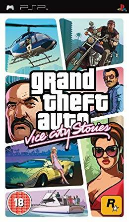 grand theft auto vice city stories psp platium