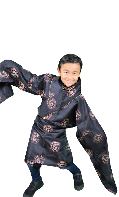 Traditional Tibetan clothing for kids