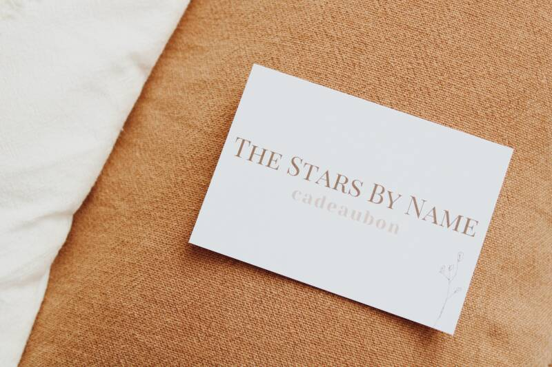 Cadeaubon 35 euro - The Stars By Name