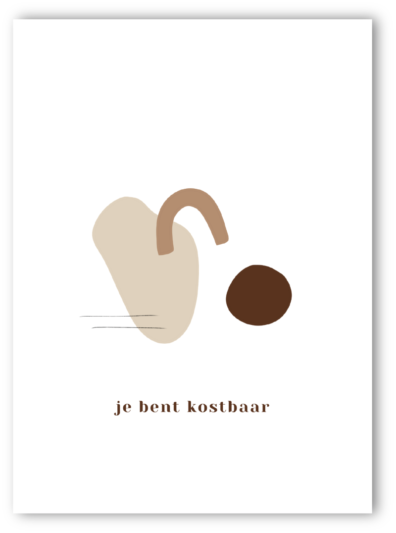 Mini poster - Je bent kostbaar