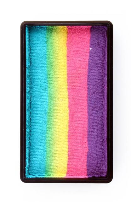 PXP Professional Colours 28 gram splitcake block k Purple | pink | yellow | turquoise