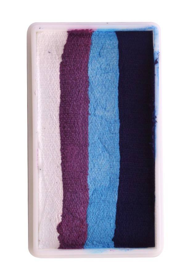PXP Professional Colours 28 gram splitcake block z1 PXP Professional Colours 28 gram splitcake block z1 white | purple | l. blue | blue