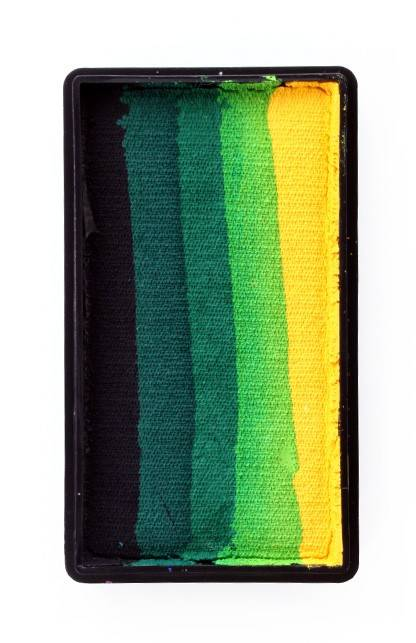PXP Professional Colours 28 gram splitcake block a Black | dark green | green | light green | yellow