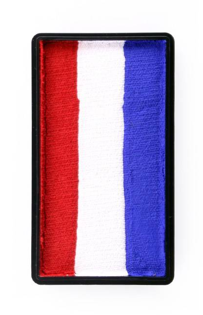PXP Professional Colours 28 gram splitcake block p Red | white | blue