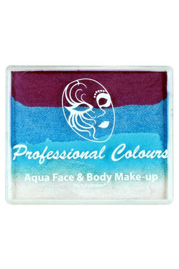 PXP Professional Colours 50 gram splitcake Orchid Pearl sky blue Light blue Pearl white