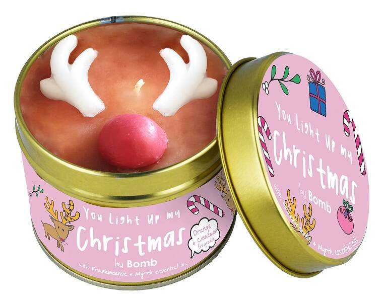 You Light Up My Christmas Tinned Candle
